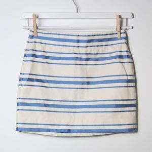 J. Crew Blue & White Mini Skirt Size 00